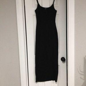 MISSGUIDED black tank knit maxi dress